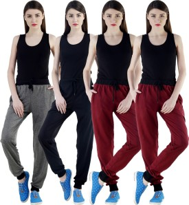 Dee Mannequin Self Design Women's Grey, Black, Maroon, Maroon Track Pants