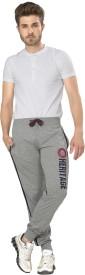 Alan Jones Printed Men's Grey Track Pants