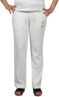 Pinellii Pamper Pant Gardenia Solid Women's Track Pants