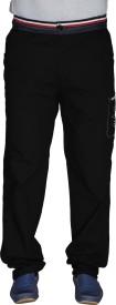 LD Active Self Design Men's Black Track Pants