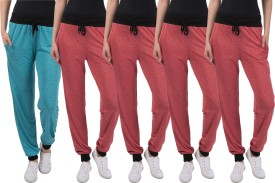 Dee Mannequin Solid Women's Red, Red, Red, Red, Blue Track Pants