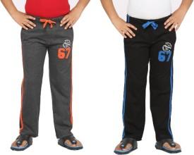 Greenwich Solid Boy's Orange, Black Track Pants