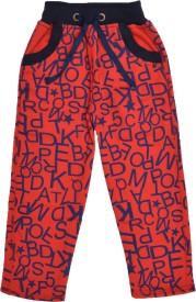 Crux&Hunter Printed Boy's Red Track Pants