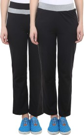 Vimal Solid Women's Black, Black Track Pants