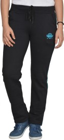 Smart Lady Solid Women's Black Track Pants