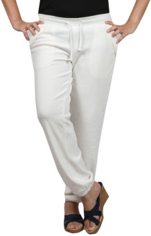 Pinellii Breeze Pant Gardenia Solid Women's Track Pants