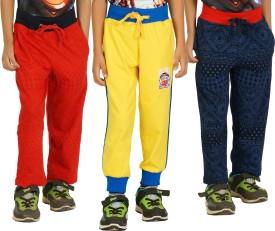 Shaun Solid Boy's Dark Blue, Red, Yellow Track Pants
