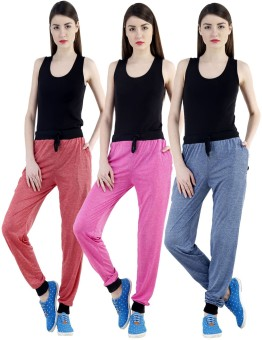 Dee Mannequin Self Design Women's Red, Dark Blue, Pink Track Pants