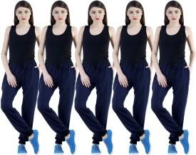 Dee Mannequin Self Design Women's Dark Blue, Dark Blue, Dark Blue, Dark Blue, Dark Blue Track Pants