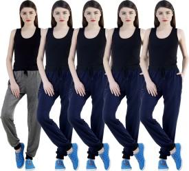 Meebaw Self Design Women's Grey, Dark Blue, Dark Blue, Dark Blue, Dark Blue Track Pants