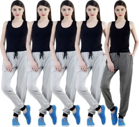 Meebaw Self Design Women's Grey, Grey, Grey, Grey, Grey Track Pants