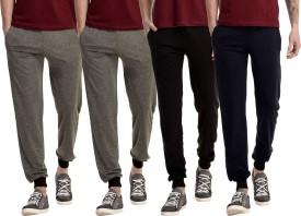 Gaushi Solid Men's Grey, Grey, Black, Dark Blue Track Pants