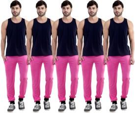 Dee Mannequin Self Design Men's Pink, Pink, Pink, Pink, Pink Track Pants