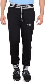 GDS Solid Men's Black Track Pants