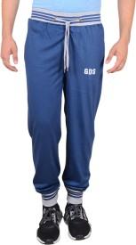 GDS Solid Men's Blue Track Pants