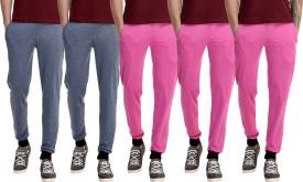 Gaushi Solid Men's Dark Blue, Dark Blue, Pink, Pink, Pink Track Pants