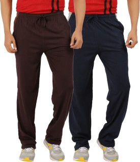 ESSDEE Solid Men's Dark Blue, Brown Track Pants