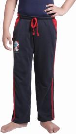 Red Ring Self Design Boy's Blue Track Pants