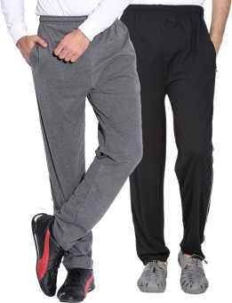 Fizzaro Solid Men's Grey, Black Track Pants