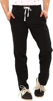 Softwear Cut&Sew Solid Men's Black Track Pants