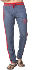Allocate Solid Men's Light Blue, Red Track Pants