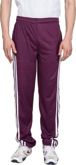 Xplore Maroon Solid Solid Men's Track Pants