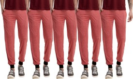 Meebaw Solid Men's Red, Red, Red, Red, Red Track Pants