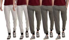 Gaushi Solid Men's Grey, Grey, Grey, Grey, Grey Track Pants - TKPEJMJMZSRCGJS2