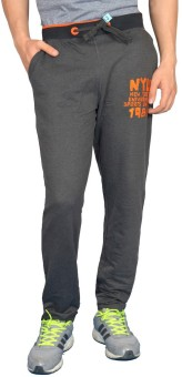 London Eye Embroidered Men's Grey, Orange Track Pants