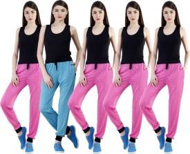 Dee Mannequin Self Design Women's Pink, Pink, Pink, Pink, Blue Track Pants