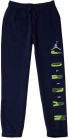 Jordan Solid Boy's Dark Blue Track Pants