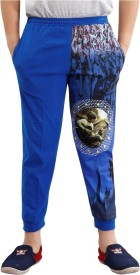 Fizzi pro Solid Boy's Blue Track Pants