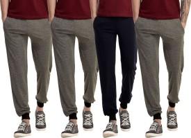 Gaushi Solid Men's Grey, Grey, Grey, Dark Blue Track Pants