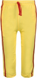 Jazzup Solid Girl's Yellow Track Pants