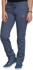 Smart Lady Solid Women's Blue Track Pants