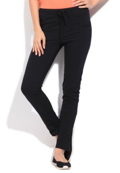 STYLE QUOTIENT BY NOI Women's Black Track Pants