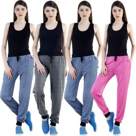 Dee Mannequin Self Design Women's Dark Blue, Dark Blue, Grey, Pink Track Pants