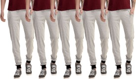 Gaushi Solid Men's Grey, Grey, Grey, Grey, Grey Track Pants
