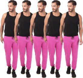 Meebaw Self Design Men's Pink, Pink, Pink, Pink, Pink Track Pants