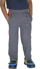DFH Solid Boy's Grey Track Pants