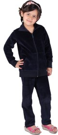 Vivid Bharti Solid Girl's Track Suit