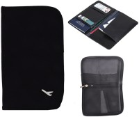Sangaitap Stylish Travel Wallet Passport Holder & Organizer Compact Slim Zipper Black