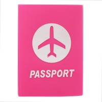 Tootpado Airplane Baby Pink - Portable Folding Silicone Passport Cover Card Holder