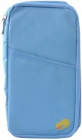 Deals4ever Canvas Passport Holder / Organiser (Color : Sea Blue)
