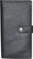 Kan Style 98 Black Traveller Genuine Leather Passport Cum Organizer Wallet For Men And Women Black
