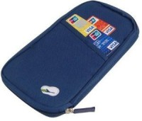 Deals4ever Canvas Passport Holder / Organiser (Color : Navy Blue)