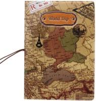 Tootpado World Trip Map Portable Foldin Passport Cover Card Holder Brown