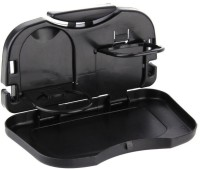 Sahibuy Backseat Food Tray With Bottle Cup Holder Black