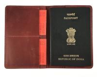 Roccia Handcrafted Document organizer Passport and card Holder plus Minimal wallet