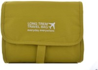 Packnbuy Folding Hanging Cosmetics Travel Organizer For Make Up Kits Toiletry Pouch Bags - Lime Green Color Lime Green